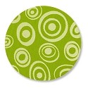 "Lillypilly Aluminum Blank Round 1"" Circled Dots Lime Green 22ga"