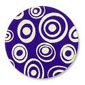 "Lillypilly Aluminum Blank Round 1"" Circled Dots Purple 22ga"