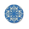 "Lillypilly Aluminum Blank Round 5/8"" Flower Burst Turquoise 22ga"