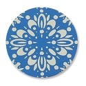 "Lillypilly Aluminum Blank Round 1"" Flower Burst Turquoise 22ga"
