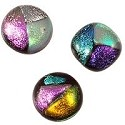 Dichroic Glass Free Form Cabochon 15-16mm Mixed Colors (1-Pc)