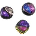 Dichroic Glass Free Form Cabochon 13-14mm Pink/Purple (1-Pc)