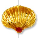 Handmade Seashell Bead 20x16mm Gold (1-Pc)