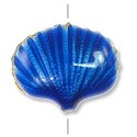 Handmade Seashell Bead 20x16mm Cobalt Blue (1-Pc)