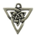 Celtic Open Weave Triangle 21mm Pewter Antique Silver Plated (1-Pc)