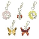 Nature Charm Set (5-Pcs) with Clasp Silver Plated