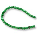 "Fulani Seed Beads 4mm Emerald Green (22"" Strand)"
