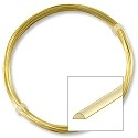 German Style Wire Brass Half Round Wire 20ga