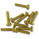 "Hex Head Brass Screw #0-80 1/4"" Length (10-Pcs)"