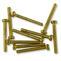 "Hex Head Brass Screw #0-80 1/2"" Length (10-Pcs)"