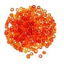 Seed Bead Transparent 6/0 Orange (Ounce)