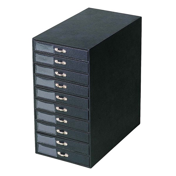 Shop For Tall Black Leatherette Jewelry Tray Storage Tower