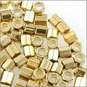 Miyuki Delica Seed Bead Hex Cut 8/0 24K Light Gold Plated (3 Gram Tube)