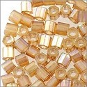 Miyuki Delica Seed Bead Hex Cut 8/0 Transparent Gold Luster Light Topaz AB (3 Gram Tube)
