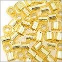 Miyuki Delica Seed Bead 8/0 Silver Lined Gold (3 Gram Tube)