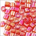 Miyuki Delica Seed Bead 8/0 Transparent Cherry Red AB (3 Gram Tube)