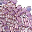 Miyuki Delica Seed Bead 8/0 Transparent Gold Luster Amethyst (3 Gram Tube)