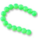 "Neon Glass Beads 10mm Apple Green (16"" Strand)"