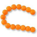 "Neon Glass Beads 10mm Neon Orange (16"" Strand)"