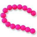 "Neon Glass Beads 10mm Hot Pink (16"" Strand)"