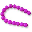 "Neon Glass Beads 10mm Dark Purple (16"" Strand)"