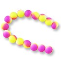 "Neon Glass Beads 10mm Neon Purple/Yellow (16"" Strand)"