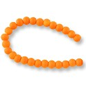 "Neon Glass Beads 6mm Neon Orange (16"" Strand)"