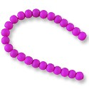 "Neon Glass Beads 6mm Dark Purple (16"" Strand)"