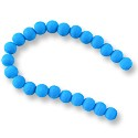 "Neon Glass Beads 6mm Turquoise Blue (16"" Strand)"