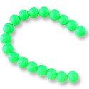 "Neon Glass Beads 8mm Apple Green (16"" Strand)"