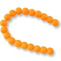 "Neon Glass Beads 8mm Neon Orange (16"" Strand)"