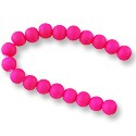 "Neon Glass Beads 8mm Hot Pink (16"" Strand)"