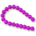 "Neon Glass Beads 8mm Dark Purple (16"" Strand)"