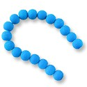 "Neon Glass Beads 8mm Turquoise Blue (16"" Strand)"