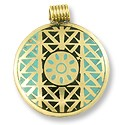 Metal Pendant 49x41mm Antique Brass (1-Pc)