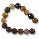 "Faceted Dyed Agate Beads 8mm (16"" Strand)"