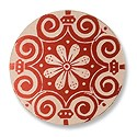 "Lillypilly Aluminum Blank Round 1"" Fleur De Lis Red 24ga"