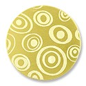 "Lillypilly Aluminum Blank Round 1"" Circled Dots Gold 22ga"