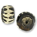 Bone Bead Batik Zebra Rondelle 20-25mm (3-Pcs)