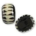Bone Bead Batik Zebra Rondelle 25-30mm (3-Pcs)