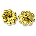 Bead Cap - Scalloped 11x5mm Pewter Antique Gold Plated (1-Pc)