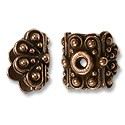 Bead Cap - Raja 9x9mm Pewter Antique Copper Plated (1-Pc)