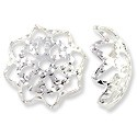 Bead Cap - Filigree 10mm Base Metal Silver Plated (2-Pcs)