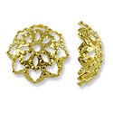 Bead Cap - Filigree 10mm Base Metal Gold Plated (2-Pcs)