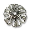 Bead Cap - Large 18x12mm Silver Plated (1-Pc)