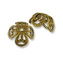 Bead Cap - Medium 6x10mm Antique Brass Plated (1-Pc)