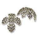 Bead Cap - Large Filigree 14x16mm Antique Silver Plated (1-Pc)