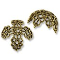 Bead Cap - Large Filigree 14x16mm Antique Brass Plated (1-Pc)