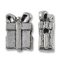 Bead Gift Box 10x8mm Pewter Antique Silver Plated (1-Pc)