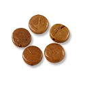 Beads Dyed Coconut Round Tea Leaf Brown 8mm (10-Pcs)